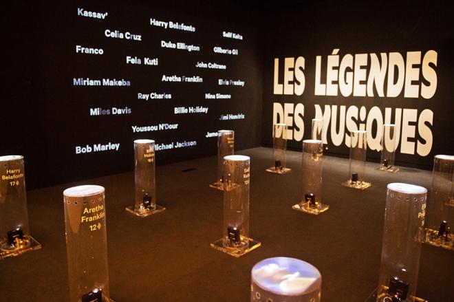 Vue de l'exposition, les légendes des musiques noires © Cité de la musique